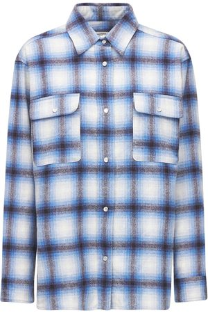 Isabel Marant Marcelia Over Check Wool Blend Shirt