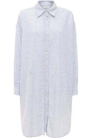 Isabel Marant Seen Striped Poplin Draped Mini Dress