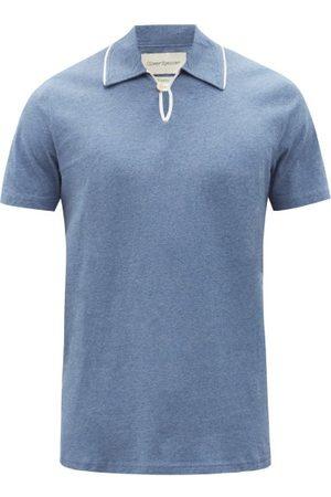OLIVER SPENCER Hawthorn Organic Cotton-jersey Polo Shirt - Mens - Light