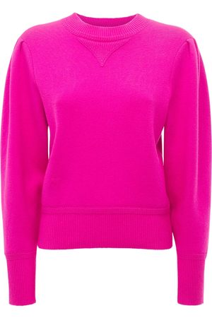 Isabel Marant Kelaya Sweatshirt W/ Puff Sleeves