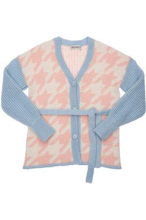 Simonetta Lurex & Mohair Blend Knit Cardigan