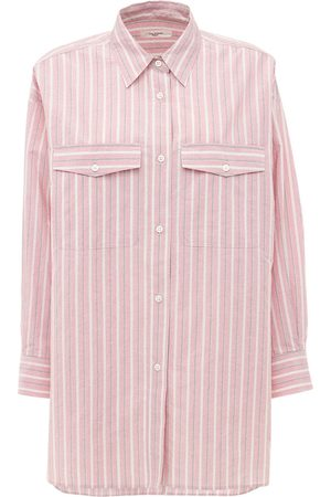 Isabel Marant Women Shirts - Ajady Cotton Poplin Striped Shirt