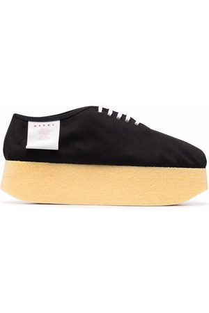 Marni Canvas platform sneakers