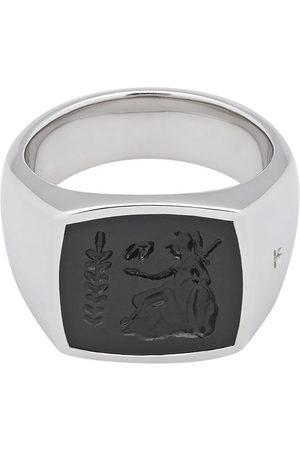 TOM WOOD Men Rings - Athena onyx-embellished ring - Metallic