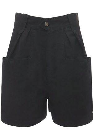 Isabel Marant Women Shorts - Palinoa Pleated Cotton Shorts
