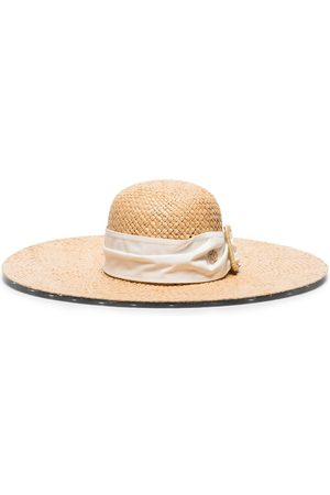 Le Mont St Michel Blanche buckle hat - Neutrals