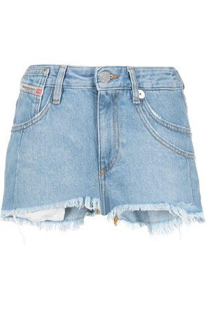 Diesel Mid-rise raw-cut shorts