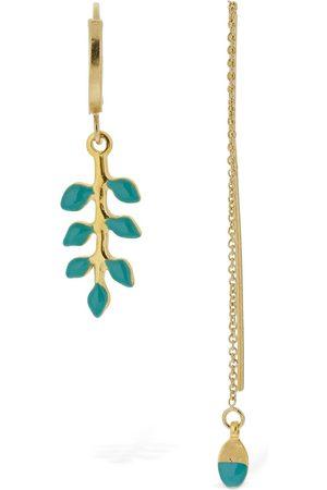 Isabel Marant Women Earrings - New Leaves Mismatched Earrings