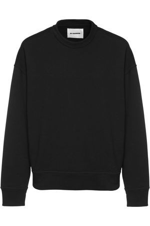 Jil Sander Logo Embroidered Cotton Sweatshirt