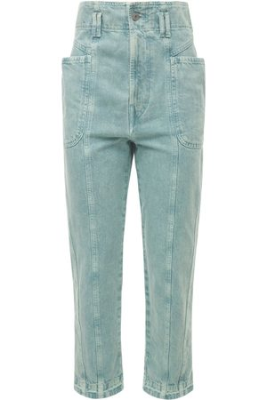 Isabel Marant Women High Waisted - Tucson High Waist Cotton Denim Pants