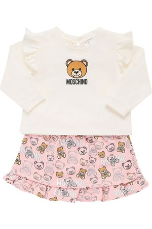 Moschino Printed Cotton L/s T-shirt & Skirt