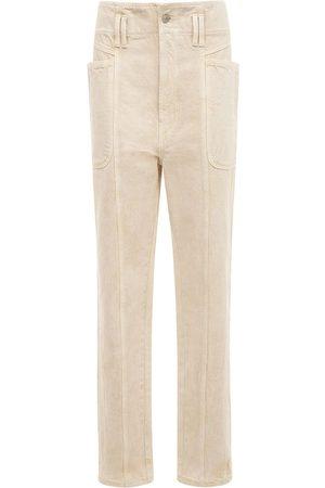 Isabel Marant Women High Waisted - Tess High Waist Cotton Straight Pants