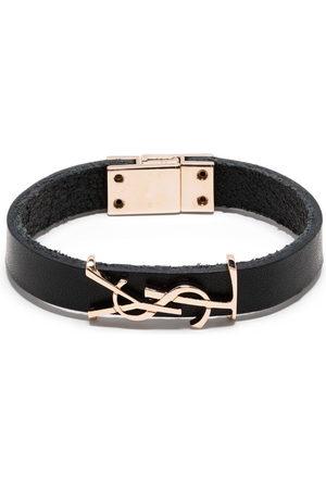Saint Laurent Women Bracelets - YSL logo leather bracelet