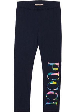 Emilio Pucci Cotton Jersey Leggings W/ Logo