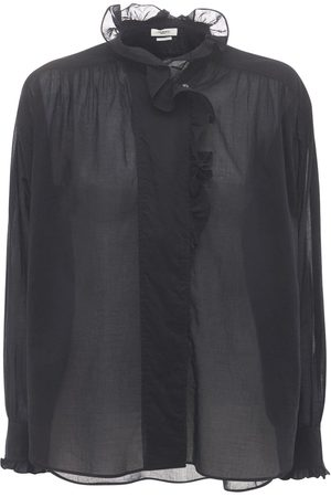 Isabel Marant Women Shirts - Pamias Cotton Ruffled Shirt