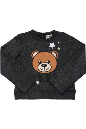 Moschino Glittered Cotton Sweatshirt