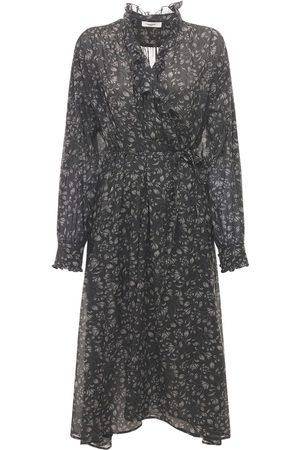 Isabel Marant Maelys Printed Cotton Midi Dress