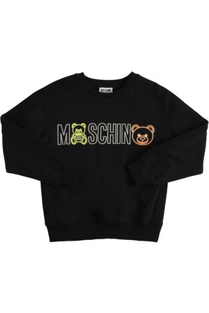 Moschino Rubberized Logo Cotton Sweatshirt