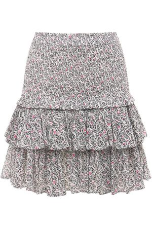 Isabel Marant Naomi Ruffled Printed Cotton Mini Skirt