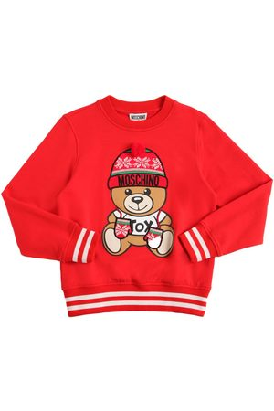 Moschino Girls Sweatshirts - Toy Christmas Cotton Sweatshirt