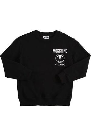 Moschino Girls Sweatshirts - Logo Print Cotton Sweatshirt