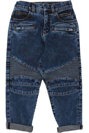 Balmain Girls Stretch - Stretch Cotton Biker Jeans