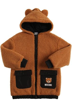 Moschino Girls Fleece Jackets - Toy Patch Hooded Teddy Jacket W/ Ears