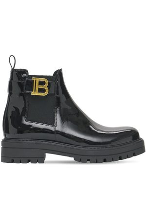 Balmain Patent Leather Boots