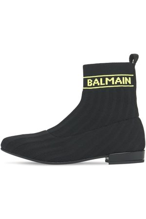 Balmain Girls Boots - Knit Sock Boots