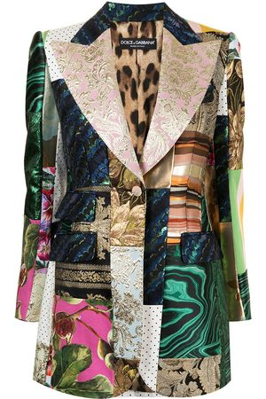 Dolce & Gabbana Women Blazers - Single-breasted patchwork blazer - Multicolour