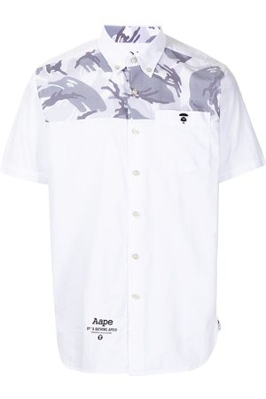 AAPE BY A BATHING APE Camouflage-detail short-sleeved shirt