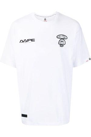 AAPE BY A BATHING APE Logo-print cotton T-shirt