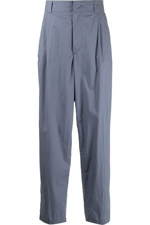 Emporio Armani Men Formal Pants - Pleated straight-leg trousers