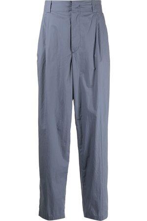 Emporio Armani Men Formal Pants - Pleated straight-leg trousers
