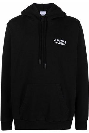 MARCELO BURLON Men Hoodies - Embroidered-logo hoodie