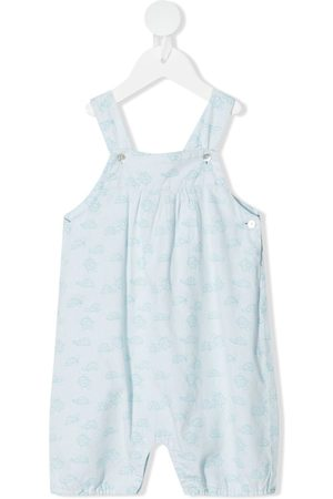 KNOT Cocoon baby turtle-print jumpsuit
