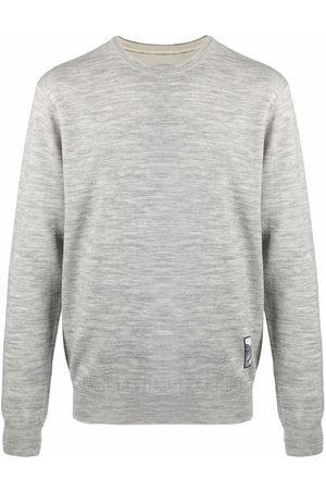 Jil Sander Men Long sleeves - Embroidered-design long-sleeve jumper - Grey