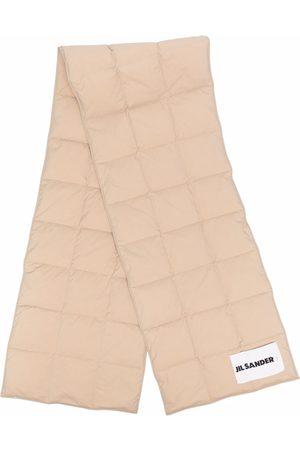 Jil Sander Padded logo-patch scarf - Neutrals