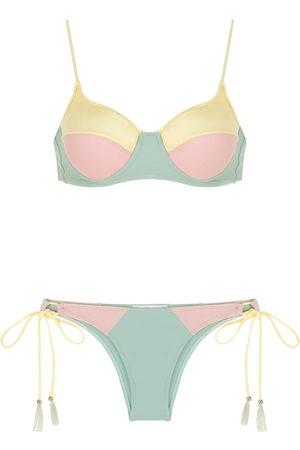 Brigitte Colour-block bikini set - Multicolour