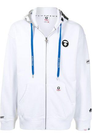 AAPE BY A BATHING APE Logo-patch zip-up hoodie
