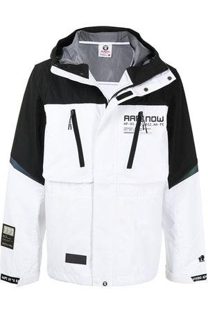 AAPE BY A BATHING APE Men Sports Jackets - Two-tone concealed windbreaker