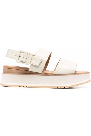 Paloma Barceló Women Platform Sandals - Double-strap platform sandals - Neutrals