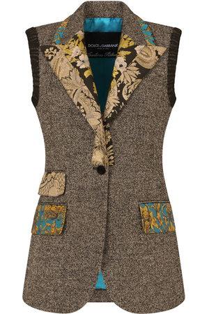 Dolce & Gabbana Women Gilets - Micro-pattern wool vest - Grey