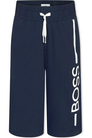 HUGO BOSS Boys Sweatpants - Logo-print track pants