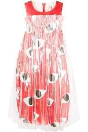 Comme des Garçons Eyes-motif contrast-panel dress