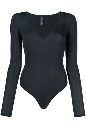 MAISON CLOSE Long-sleeved modal bodysuit - Grey