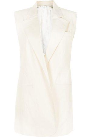 Peter Do Women Blazers - Sleeveless long blazer jacket - Neutrals