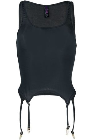 MAISON CLOSE Sleeveless modal camisole - Grey