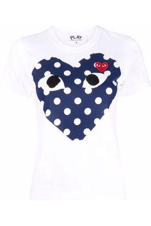 Comme des Garçons Women T-shirts - Heart logo printed T-shirt