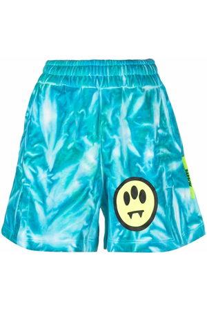 BARROW Women Shorts - Logo tie-dye shorts